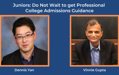 Juniors: Do Not Wait to get Professional College Admissions Guidance