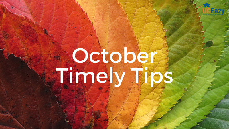 October Tips for 8th-12th Graders